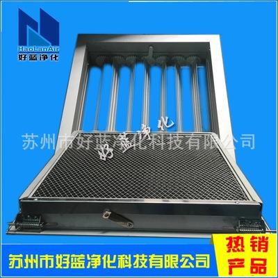 门铰式铝合金回风窗 可开式带网带阀铝合金百叶风回